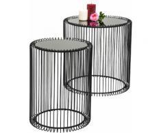 KARE Design Beistelltisch Wire (2er-Set), schwarz, schwarz