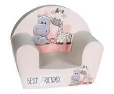 Knorrtoys Sessel Best Friends, Made in Europe rosa Kinder Ab 3-5 Jahren Altersempfehlung
