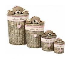 Home affaire Korb-Set Teddy, braun, braun / beige
