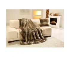 Wohndecke Braunbär Felloptik, Gözze braun Kunstfelldecken Decken Wohndecken