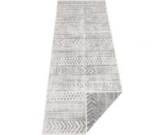 Läufer, BIRI, bougari, rechteckig, Höhe 5 mm, maschinell gewebt grau Küchenläufer Läufer Bettumrandungen Teppiche