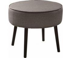 Fink Polsterhocker ELLIS, mit runder Sitzfläche braun Hocker Möbel Aufbauservice