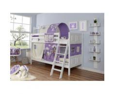 Ticaa Etagenbett Erni, mit Rollrost und Textil-Set wahlweise Matratze, Buche weiß Betten Möbel Aufbauservice