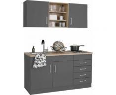 HELD MÖBEL Küchenzeile Mali, mit E-Geräten, Breite 150 cm grau Küchenzeilen -blöcke Küchenmöbel Küche Ordnung