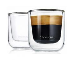 Blomus Espresso-Gläser doppelwandig, 2er Set, 80 ml, »NERO«, transparent, Neutral, transparent