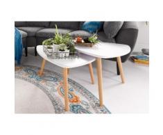 PRO Line Satztisch (Set) weiß Beistelltische Tische Tisch