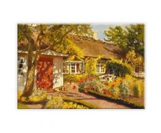 Leinwandbild Olaf Viggo Peter Langer - Das Gartenhaus bunt Leinwandbilder Bilder Bilderrahmen Wohnaccessoires