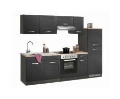 Küchenzeile Falun EEK D grau Küchenzeilen mit Geräten -blöcke Küchenmöbel Arbeitsmöbel-Sets