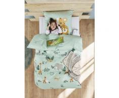 s.Oliver Kinderbettwäsche Satinbettwäsche Junior, gemustert grün Bettwäsche nach Größe Bettwäsche, Bettlaken und Betttücher