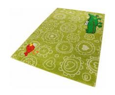 Kinderteppich, Crocodile, Sigikid, rechteckig, Höhe 13 mm, maschinell gewebt grün Kinder Bunte Kinderteppiche Teppiche