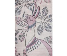Festival Kinderteppich Candy 150, rechteckig, 11 mm Höhe, Motiv Lama rosa Kinder Kinderteppiche mit Teppiche