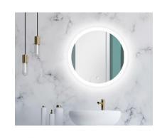 Talos Badspiegel Lunar, 59 cm weiß Runde Formen Aktuelle Wohntrends