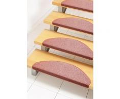 Andiamo Stufenmatte Rambo, halbrund, 4 mm Höhe, melierte Schlinge, 15 Stück in einem Set orange Stufenmatten Teppiche
