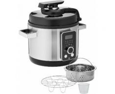 WMF Multikocher LONO 8-in-1, 1100 Watt, Schüssel 5,8 Liter silberfarben Küchenkleingeräte Haushaltsgeräte Küchenmaschine mit Kochfunktion