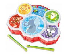 Clementoni Spiel-Schlagzeug Baby, Interaktives Schlagzeug bunt Kinder Musikspielzeug Musikinstrumente Spielzeug-Musikinstrumente