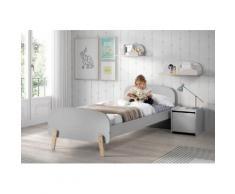 Vipack Kinderbett Kiddy grau Kinder Kinderbetten Kindermöbel Betten