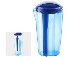 "Metaltex Wasserkaraffe ""Cool Fusion"", blau, Neutral, blau-transparent"