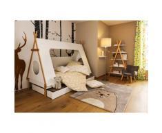 Lüttenhütt Regal Dolidoo, in skandinavischem Look, Leiterregal für Kinder- oder Jugendzimmer weiß Kinder Kindermöbel Möbel sofort lieferbar