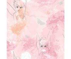 Disney Papiertapete Tinkerbell Wasserfarben, Rosa - 1005x52 cm rosa