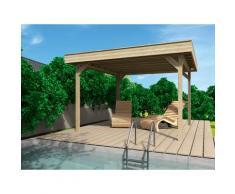 Wolff Holzpavillon Elba, BxT: 350x352 cm, Grundbauset beige Pavillons Garten Balkon