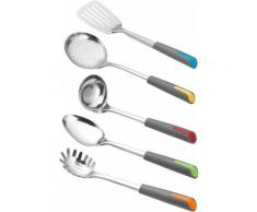 Esmeyer Kochbesteck-Set Alegria, (Set, 5-tlg.) silberfarben Kochbesteck Besteck Messer Haushaltswaren Kochbesteck-Sets