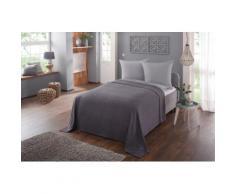 Home affaire Tagesdecke Nora, auch als Sofaüberwurf verwendbar grau Baumwolldecken Decken