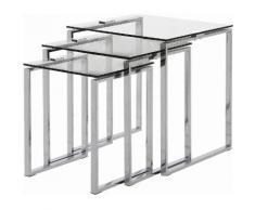 andas Beistelltisch Karina (Set) farblos Couchtische eckig Tische Tisch