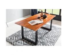 SalesFever Essgruppe, (Set, 5 St.), bestehend aus 4 Armlehnstühlen und einem 180 cm breitem Tisch braun Essgruppen Tische Essgruppe