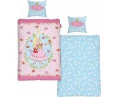 Kinderbettwäsche Prinzessin Anneli Flower, rosa, rosa-blau