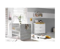 Babymöbel-Set Aarhus, (Spar-Set, 2 St.), Bett + Wickelkommode grau Baby Baby-Möbel-Sets Babymöbel