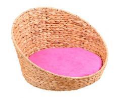 SILVIO design Tierkorb, BxLxH: 44x38x25 cm, pink rosa Katzenkörbe -kissen Katze Tierbedarf Tierkorb