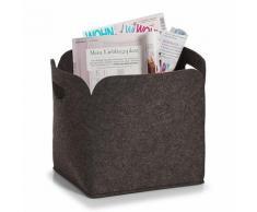 Zeller Present Aufbewahrungsbox, hoch, Filz, 30x24x30 grau Körbe Aufbewahrung Ordnung Wohnaccessoires Aufbewahrungsbox