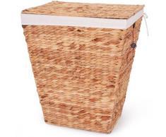 Franz Müller Flechtwaren Wäschebox Wasserhyazinthe (1 Stück) beige Wäschetonnen Wäschekörbe Wäschetruhen Badmöbel Wäschesammler