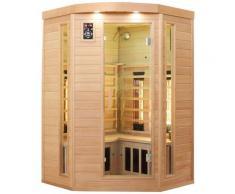 Dewello Infrarotkabine Lakefield 3, für bis zu 2 Personen beige Infrarotkabinen Sauna Bad Sanitär