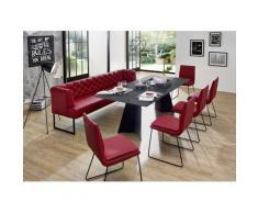 K+W Komfort & Wohnen Polsterbank Creso, im modernen Chesterfield-Look, mit schwarzen Kufenfüßen rot Polsterbänke Sitzbänke Stühle