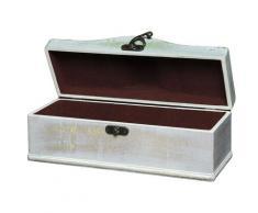 Ambiente Haus Aufbewahrungsbox Seifenholz Graues Flaschenkästchen aus H, (1 St.) weiß Körbe Boxen Regal- Ordnungssysteme Küche Ordnung