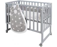 Roba Stubenbett safe asleep 3-in-1 Little Stars 4-tlg, grau, taupe