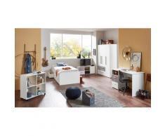 arthur berndt Jugendzimmer-Set, (5 St., Bett + 3 trg. Schrank Schreibtisch Regalwagen Lowboard), mit Melamin-Oberfläche grau Kinder Jugendzimmer-Set Kindermöbel Möbel sofort lieferbar