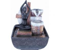 Home affaire Brunnen Yoga braun Deko-Objekte Figuren Skulpturen Wohnaccessoires Dekoratives