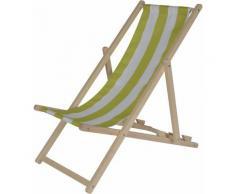 """Eichhorn Stuhl """"Eichhorn Outdoor Kindersonnenliege"""", bunt, holz, grün-weiß gestreift"""