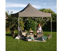 KONIFERA Faltpavillon Valencia Premium, BxT: 300x300 cm, Stahlgestell, mit Aufbewahrungstasche grau Pavillons Garten Balkon