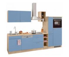 OPTIFIT Küchenzeile »Kalmar« mit E-Geräten, Breite 300 cm, blau, lichtblau