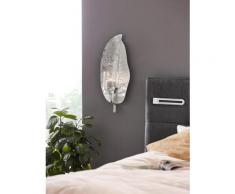 KARE Design Wandkerzenhalter Leaf, silberfarben, silberfarben