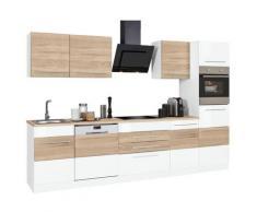HELD MÖBEL Küchenzeile Trient ohne E-Geräte Breite 300 cm, weiß, weiß/eichefarben