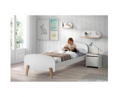 Vipack Kinderbett Kiddy weiß Kinder Kinderbetten Kindermöbel Betten