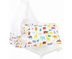 Himmelbettgarnitur Happy Zoo Pinolino passend für Kinderbetten, bunt, bunt