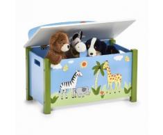 Zeller Kinder-Sitztruhe Safari, blau, blau