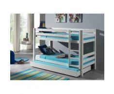 Vipack Etagenbett Pino, optional mit Bettschublade weiß Kinder Kinderbetten Kindermöbel