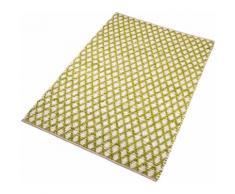 Teppich, Edge, Home affaire, rechteckig, Höhe 10 mm, handgewebt grün Baumwollteppiche Naturteppiche Teppiche