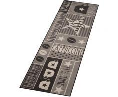 Küchenläufer, Coffee Break, Zala Living, rechteckig, Höhe 8 mm, maschinell getuftet grau Küchenläufer Läufer Bettumrandungen Teppiche